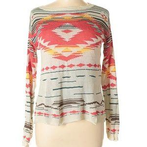 Hem & Thread Aztec Pullover Sweater